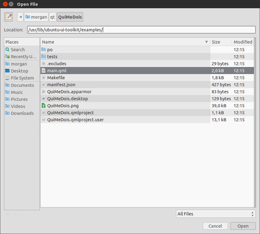 demonstration application ubuntu touch