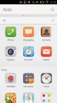 Modifier les raccourcis  d'applications ubuntu touch